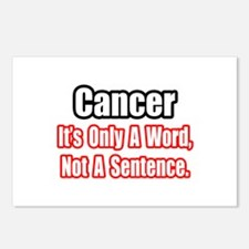 """""""Cancer: Word, Not Sentence"""" Postcards (Package of"""
