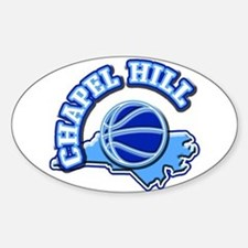 Chapel Hill Basketball Oval Decal