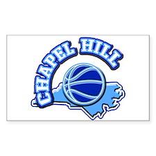 Chapel Hill Basketball Rectangle Decal