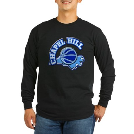 Chapel Hill Basketball Long Sleeve Dark T-Shirt