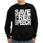 Save Free Speech Sweatshirt (dark)