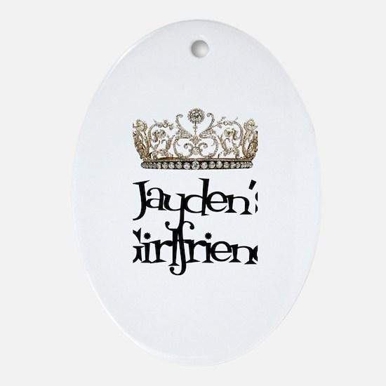 Jayden's Girlfriend Oval Ornament