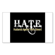 HATE - Husbands Against Team Rectangle Decal