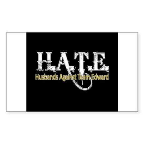 HATE - Husbands Against Team Rectangle Sticker