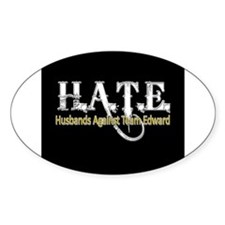 HATE - Husbands Against Team Oval Sticker (50 pk)