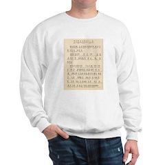 Heart Sutra Chant Card Sweatshirt