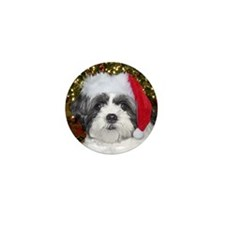 Christmas Shih Tzu Mini Button