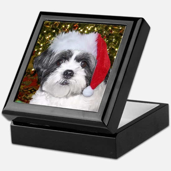 Christmas Shih Tzu Keepsake Box