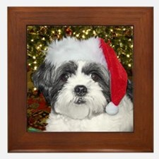 Christmas Shih Tzu Framed Tile