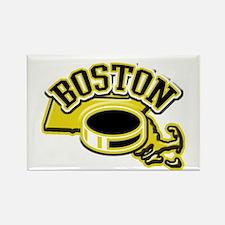 Boston Hockey Rectangle Magnet