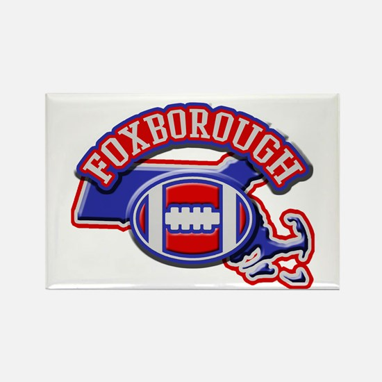 Foxborough Football Rectangle Magnet
