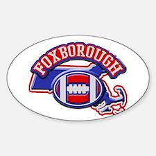 Foxborough Football Oval Sticker (10 pk)