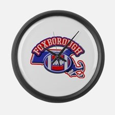 Foxborough Football Large Wall Clock