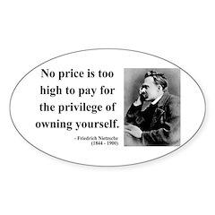 Nietzsche 36 Oval Decal