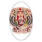 Nurse Faith Oval Sticker
