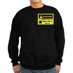 Caffeine Warning Office Worker Sweatshirt (dark)
