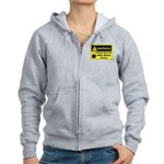 Caffeine Warning Office Worker Women's Zip Hoodie