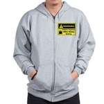 Caffeine Warning Office Worker Zip Hoodie