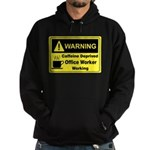 Caffeine Warning Office Worker Hoodie (dark)