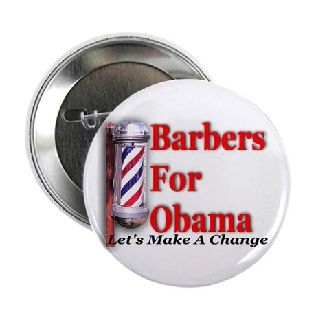 "Barbers For Obama 2.25"" Button (10 pack)"