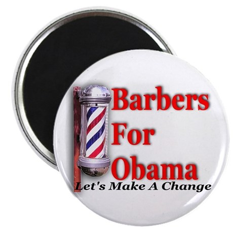Barbers For Obama Magnet