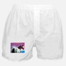 Purple Sky Leopard Appaloosa Boxer Shorts