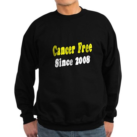 """Cancer Free Since 2008"" Sweatshirt (dark)"