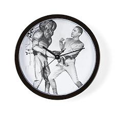 Obama & Aliens Wall Clock