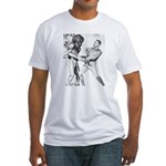 Obama & Aliens Fitted T-Shirt