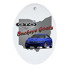 Blue GTO Oval Ornament