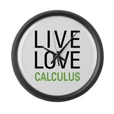 Live Love Calculus Large Wall Clock