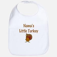 Nana's Little Turkey Bib