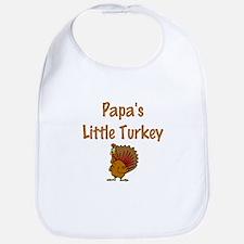 Papa's Little Turkey Bib