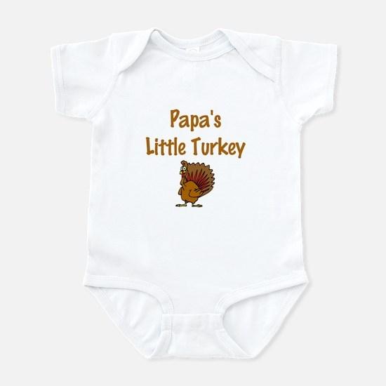 Papa's Little Turkey Infant Bodysuit