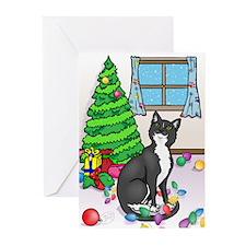 Tuxedo Cat Christmas Cards (Pk of 20)