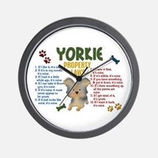 Yorkshire Terrier Property Laws 4 Wall Clock