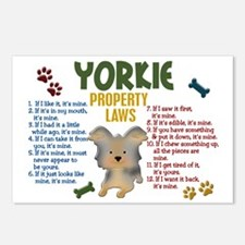 Yorkshire Terrier Property Laws 4 Postcards (Packa