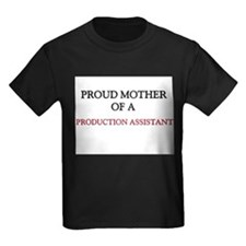 Proud Mother Of A PRODUCTION ASSISTANT Kids Dark T