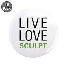 """Live Love Sculpt 3.5"""" Button (10 pack)"""