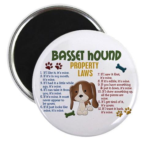 Basset Hound Property Laws 4 Magnet