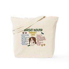 Basset Hound Property Laws 4 Tote Bag