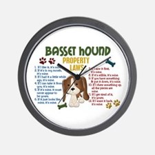 Basset Hound Property Laws 4 Wall Clock