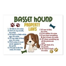 Basset Hound Property Laws 4 Postcards (Package of