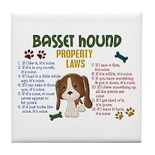 Basset Hound Property Laws 4 Tile Coaster