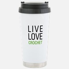 Live Love Crochet Travel Mug