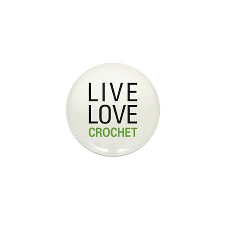 Live Love Crochet Mini Button