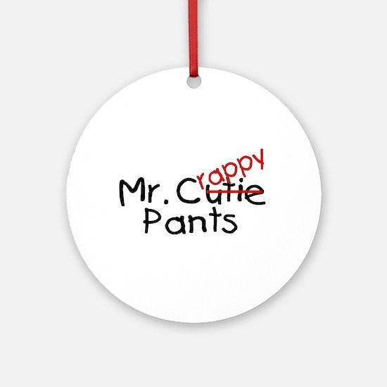 Mr. Crappy Pants Ornament (Round)