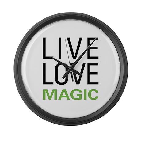 Live Love Magic Large Wall Clock