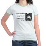 Walt Whitman 19 Jr. Ringer T-Shirt