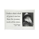 Walt Whitman 19 Rectangle Magnet (100 pack)